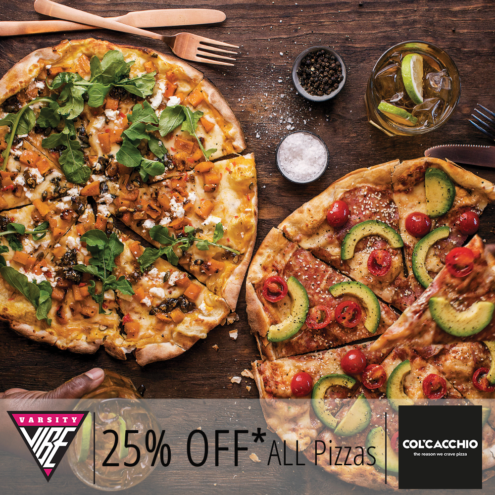 Get 25% OFF ALL Pizzas at Col'Cacchio