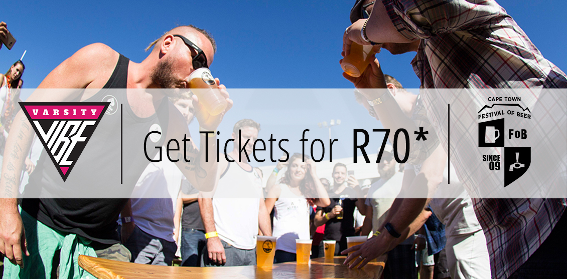 Get Cape Town Festival of Beer Tickets at R70!