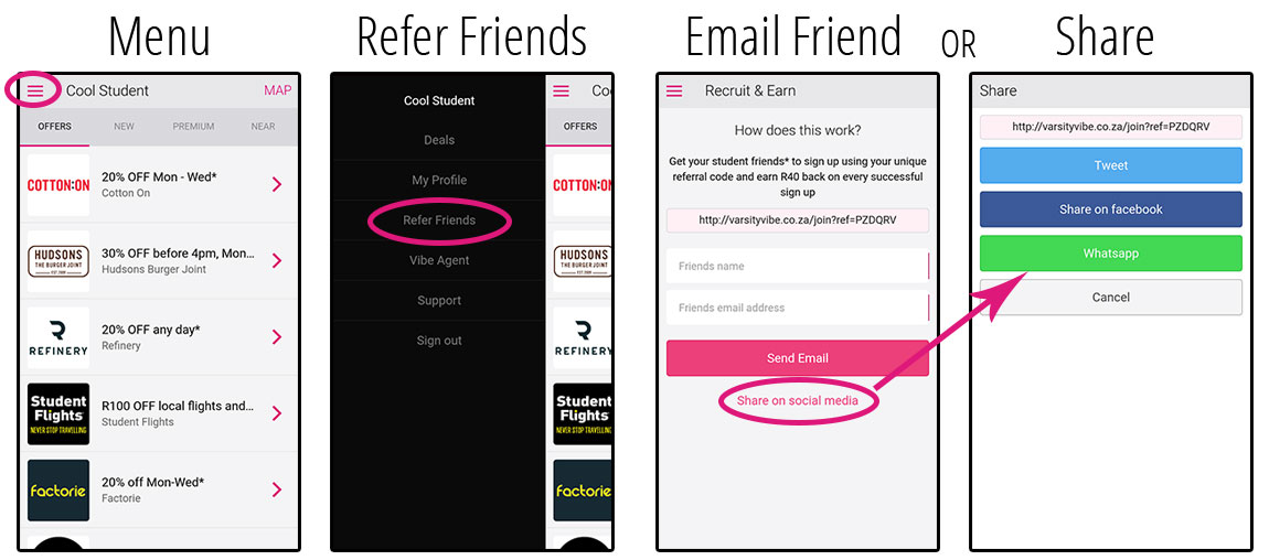 refer-a-friend-template earn r40 for every student you successfully recruit to varsity vibe - Refer a friend template - Earn R40 for every student you successfully recruit to Varsity Vibe