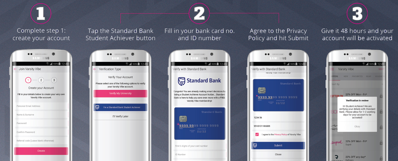 3 simple steps to joining VV for FREE with Standard Bank!