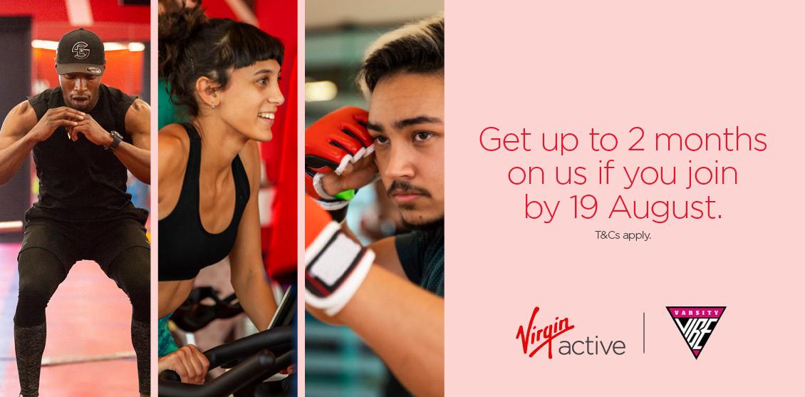 Get 2 Months FREE at Virgin Active!