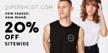 Here's 20% OFF Superbalist newness 💚