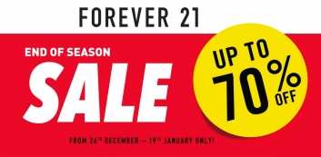 FOREVER 21 END OF SEASON SALE!